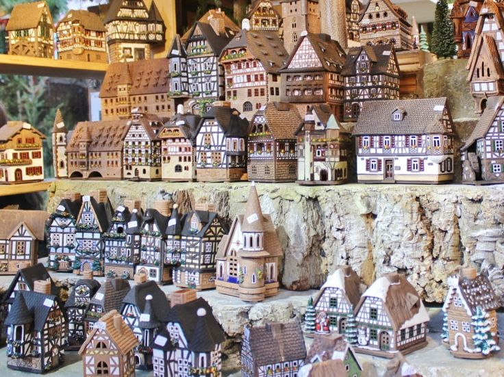 Handmade ceramic candle houses, Nuremberg Christmas Market