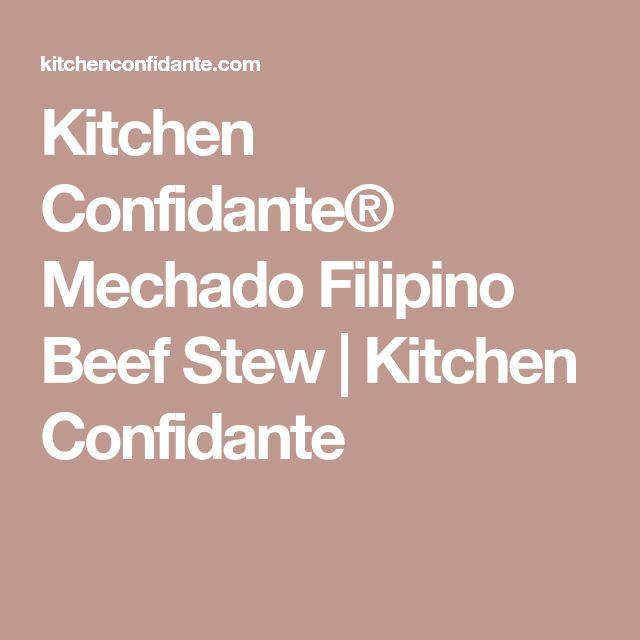 Kitchen Confidante® Mechado Filipino Beef Stew | Kitchen Confidante
