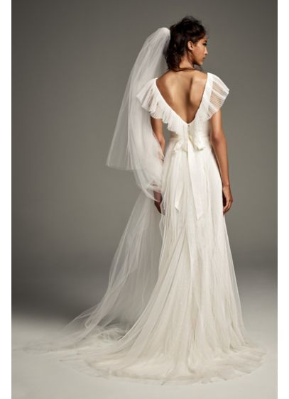 2b23d0d8b Pleated Tulle Flutter-Back Sheath Wedding Dress Style VW351448 ...