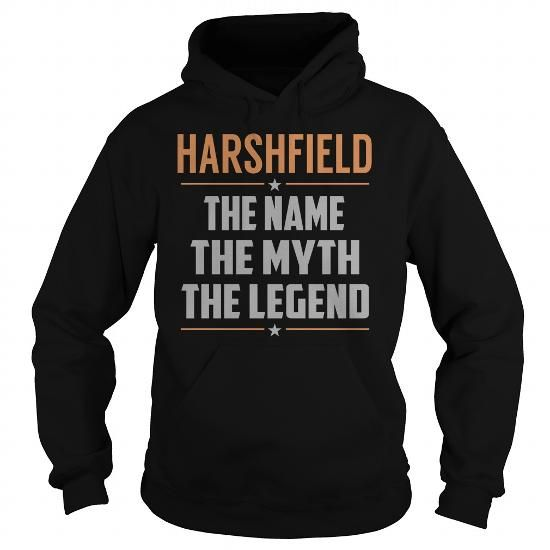 Cool HARSHFIELD The Myth, Legend - Last Name, Surname T-Shirt T shirts