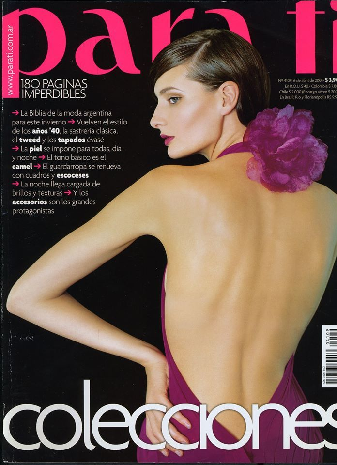 b18fde9076690 Luciana Marinissen Para Ti Argentine COLECCIONES April 2001 Magazine Cover