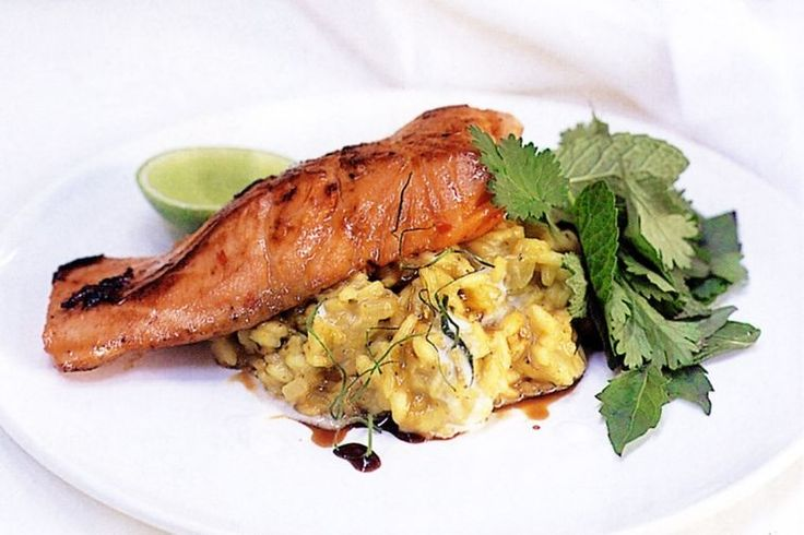Thai flavours make this salmon risotto extra special.
