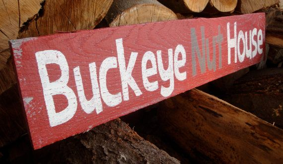 Ohio State Buckeye Nut House Sign ... I want it sooo bad!