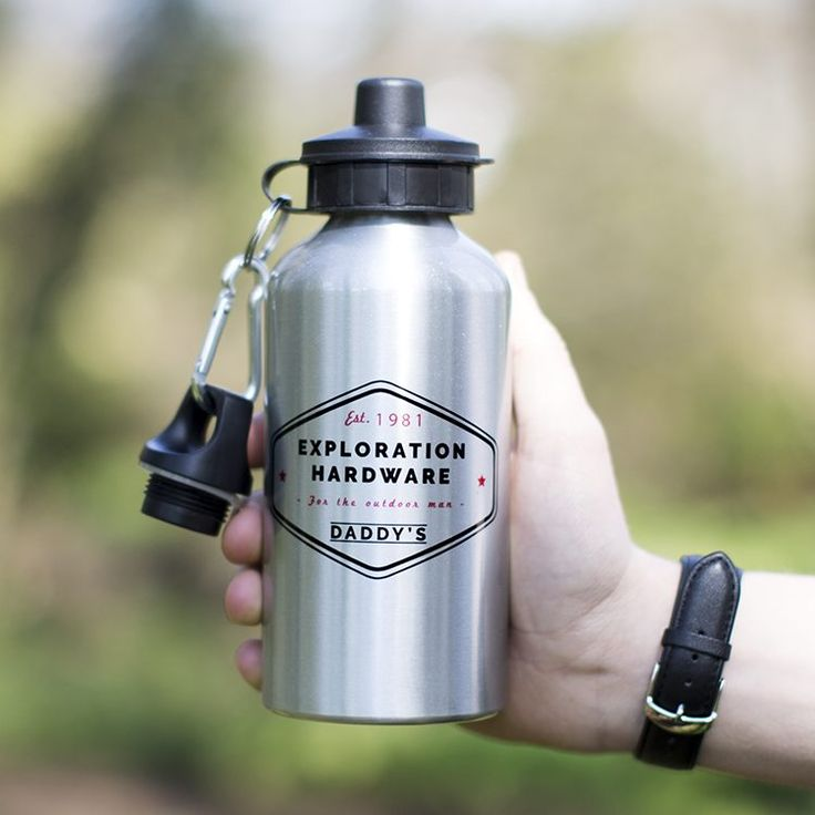 Our stylish personalised water bottle is a must have for any intrepid explorer, personalised with his name and birth year it's the ideal gift for him.