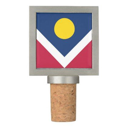 Patriotic Wine Stopper with Flag of Denver USA  $24.95  by AllFlags  - custom gift idea