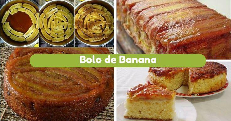 Receita de Bolo de Banana Rápido - http://topreceitasfaceis.com/receita-bolo-banana-rapido/