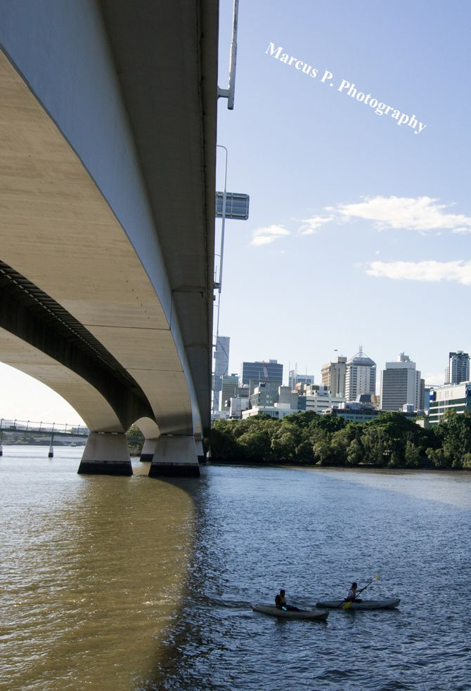 I thought I would be a little different here. Brisbane city as viewed from under the freeway along the Kangaroo Point Bikeway. A nice sunny afternoon.