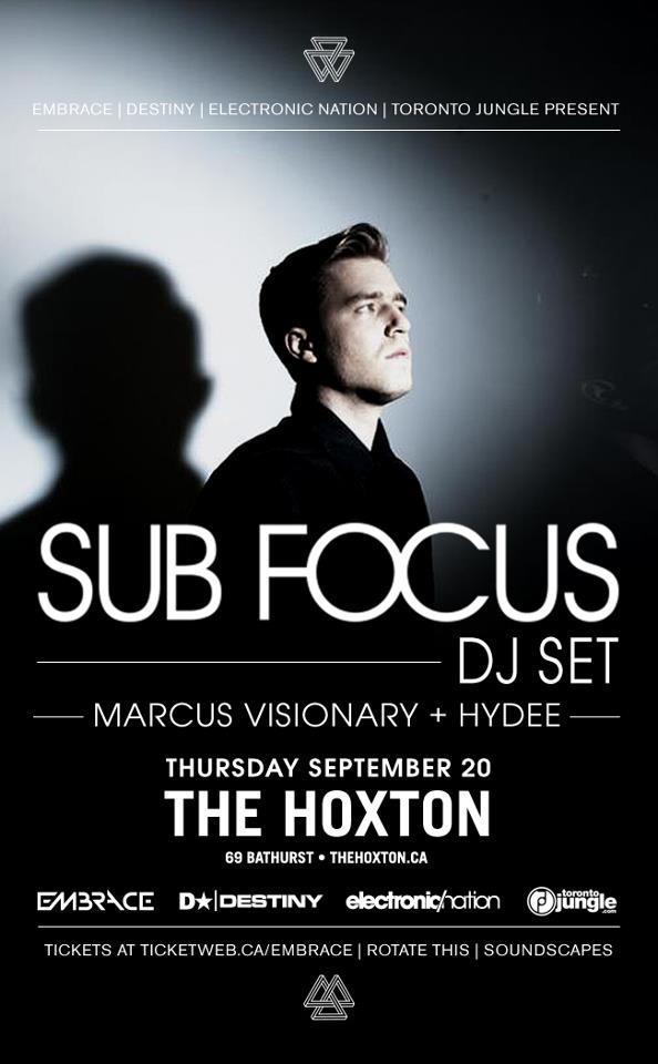 Sub Focus DJ Set Live at The Hoxton Thursday, September 20, 2012