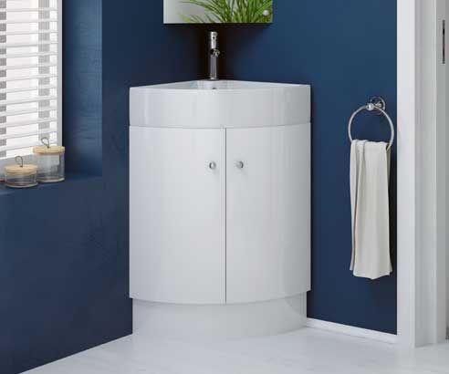 Rivera White 560 Freestanding Corner Vanity Unit with Sink   V50121165BA  scene square mediumBest 25  Corner vanity unit ideas on Pinterest   Small vanity unit  . Sink With Vanity Unit. Home Design Ideas