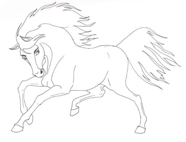 Spirit And Rain Horse Coloring Pages Coloring Pages