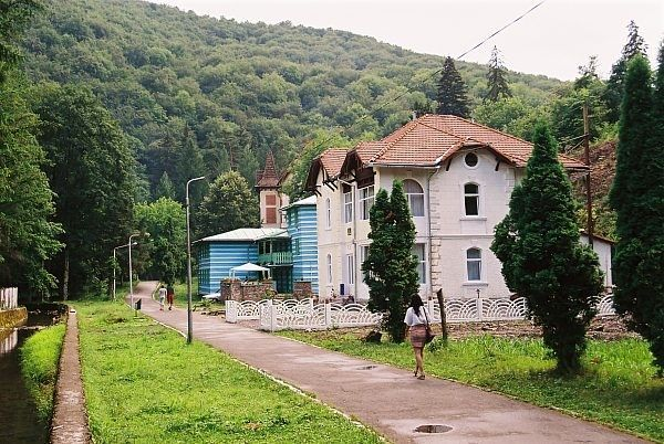 Moneasa resort and spa near to Codru-Moma mountain in Arad county