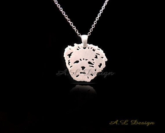 Lhasa Apso Necklace Lhasa Apso Pendant Lhasa Apso by TheDogsPlace