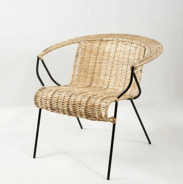 Sillón de mimbre del diseñador argentino Horacio Baliero.