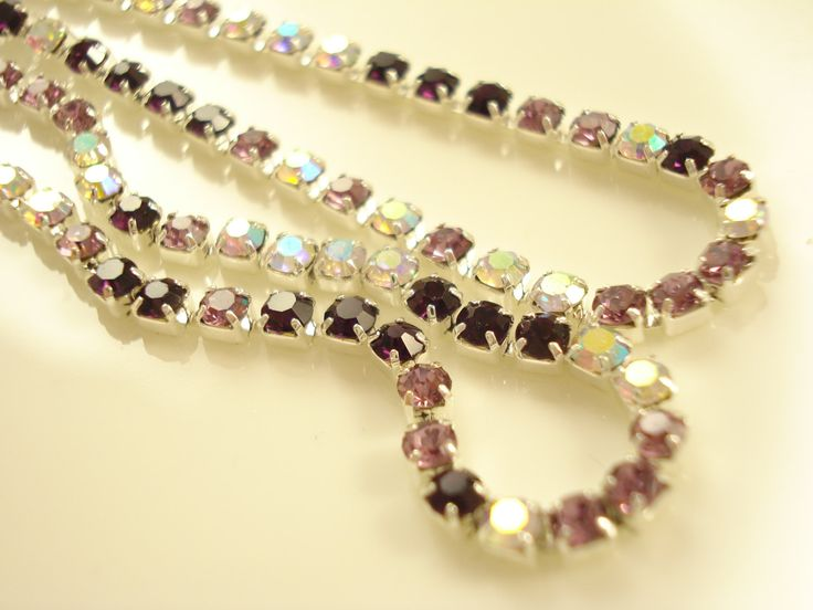 1 meter Mixed Colour Rhinestone Chain SS6(2mm) RS-105 by yooounique on Etsy