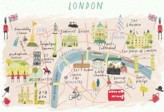 Pin De Demi En Londen Viajes A Londres Mapas Ilustrados Visitar Londres