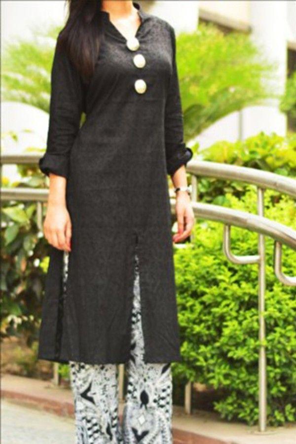 Sherwani style kurti with plazo
