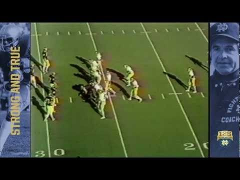 1979 vs. Michigan - Crable FG Block - 125 Years of Notre Dame Football -...