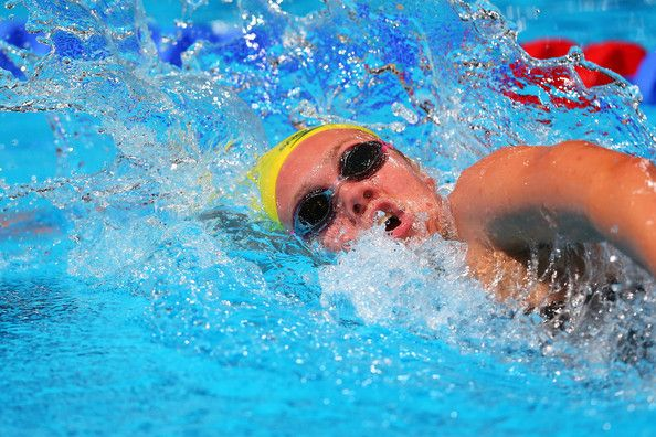 Chelsea Gubecka of Australia competes during the Swimming Women's 1500m Freestyle heat two on day ten of the 15th FINA World Championships at Palau Sant Jordi on July 29, 2013 in Barcelona, Spain.