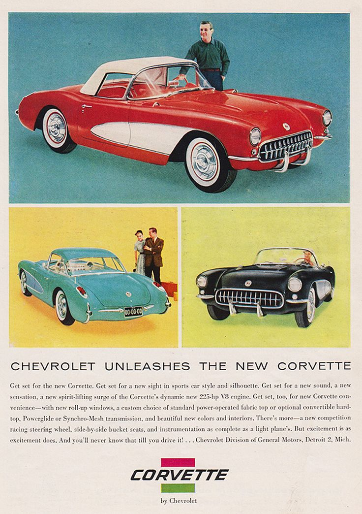 1950s Corvette ad