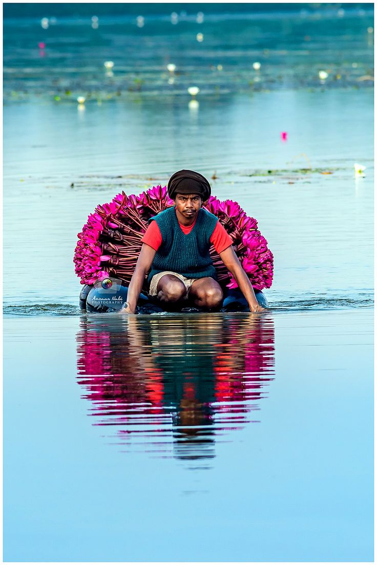 Lotus Collector... #IncredibleIndia #people #photography #sea