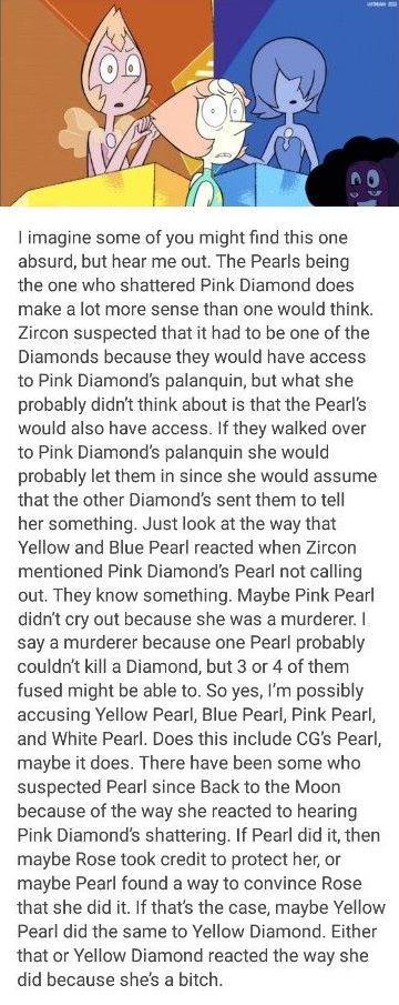 """This is actually really smart lol and I love the """"because she's a bitch"""" at the end. And now that we know waaay more about PD from Jungle Moon, I'd say it'd maybe take two pearls just to hold her down, but two fused pearls probably wouldn't even have to try!"""