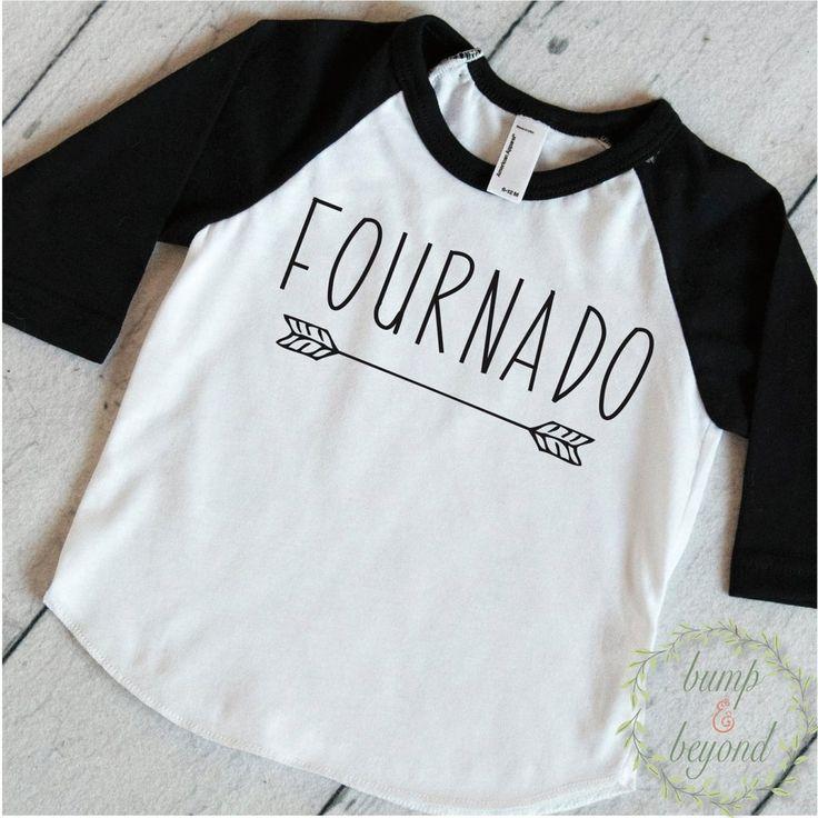 Fournado Fourth Birthday Shirt Boy 4 Year Old Birthday Shirt Boy Fourth Birthday Shirt 216 - Bump and Beyond Designs