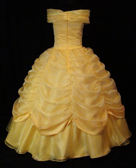 Adult Beauty and the Beast Yellow Gown by NeverbugCreations, $700.00 - EMILIE