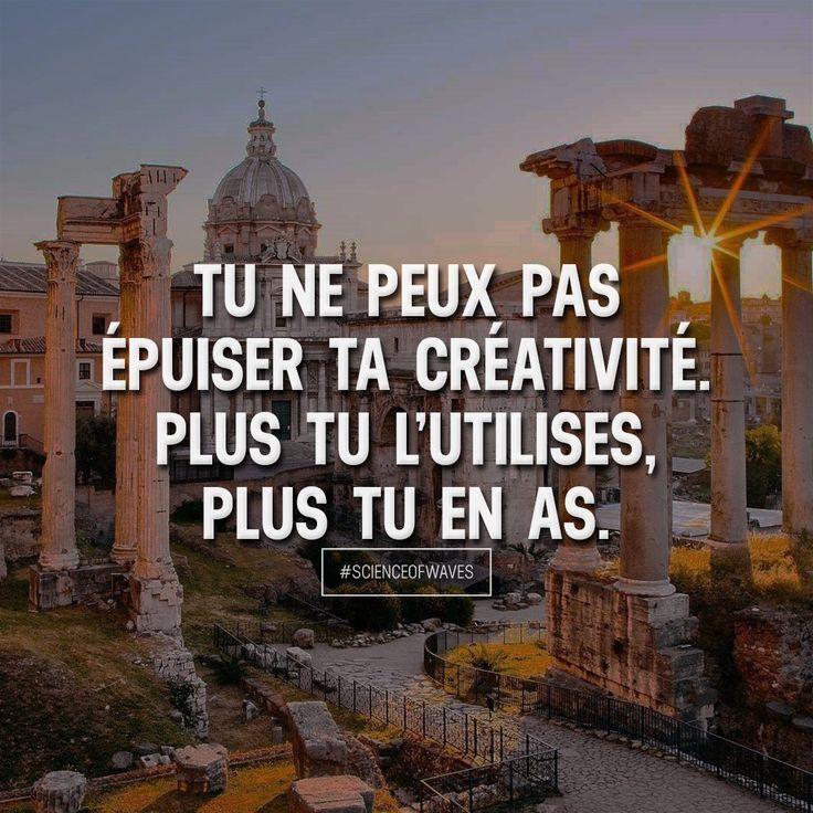 Tu ne peux pas épuiser ta créativité. Plus tu l'utilises, plus tu en as. Aime et commente si tu es d'accord! ➡️ @sweartee for more!