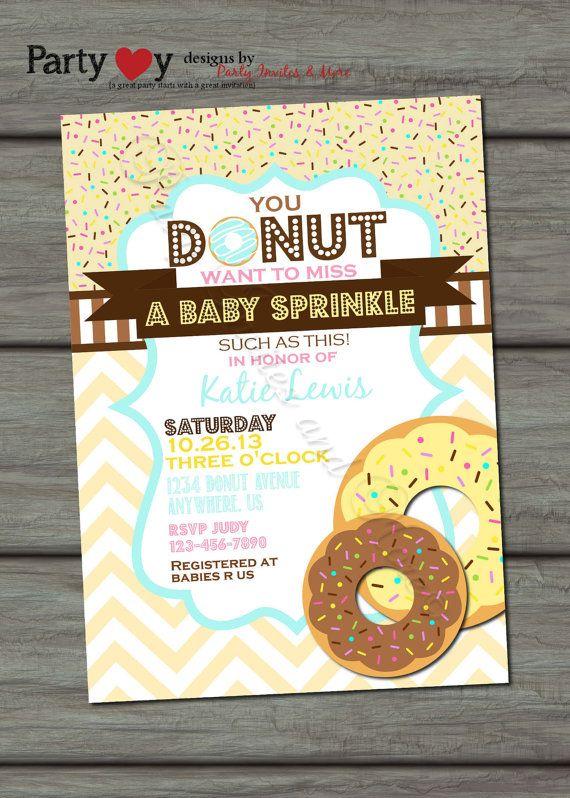Baby Sprinkle Invitation Donut Baby Shower by PartyInvitesAndMore, $10.00