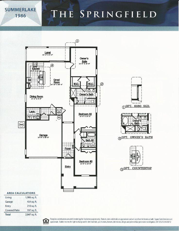 Summerlake Dr Horton Homes Springfield Floor Plan In Winter Garden FL