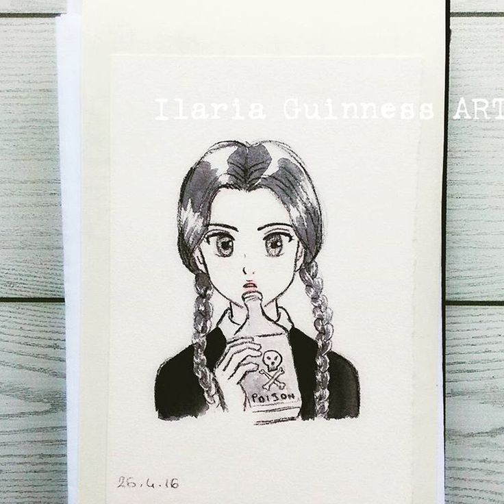 Wednesday Addams manga version - by Ilaria Guinness ART https://www.facebook.com/TKPLips.manga/