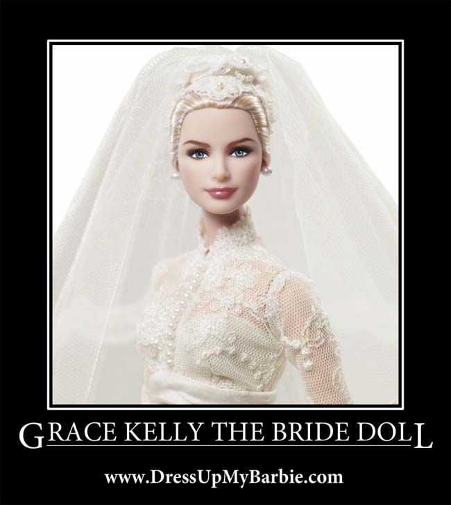 Grace Kelly The Barbie Bride Doll - http://www.dressupmybarbie.com/games/wedding-dressup/  #Barbie #Wedding