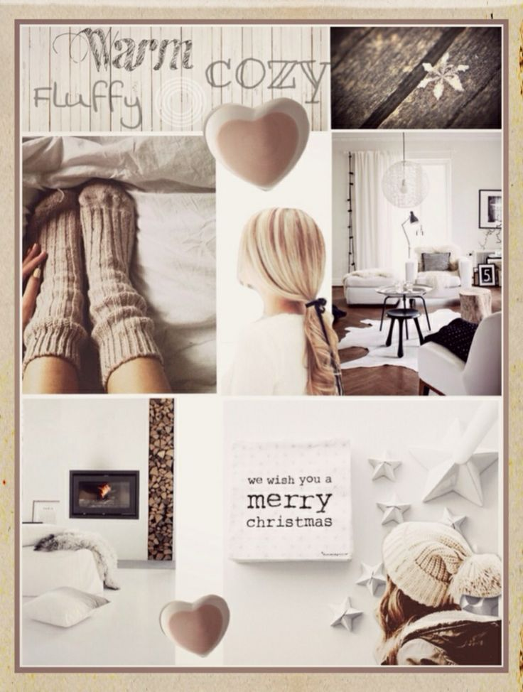 Lifestyle Moodboard interior design! Cozy warm winters Christmas