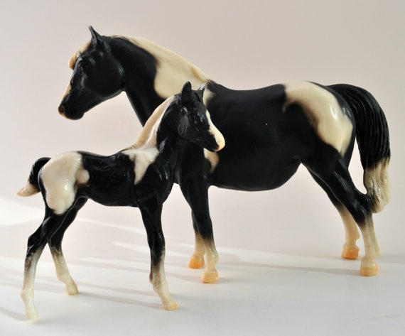 Classic BREYER Mare and Foal Model Horse Set by ...