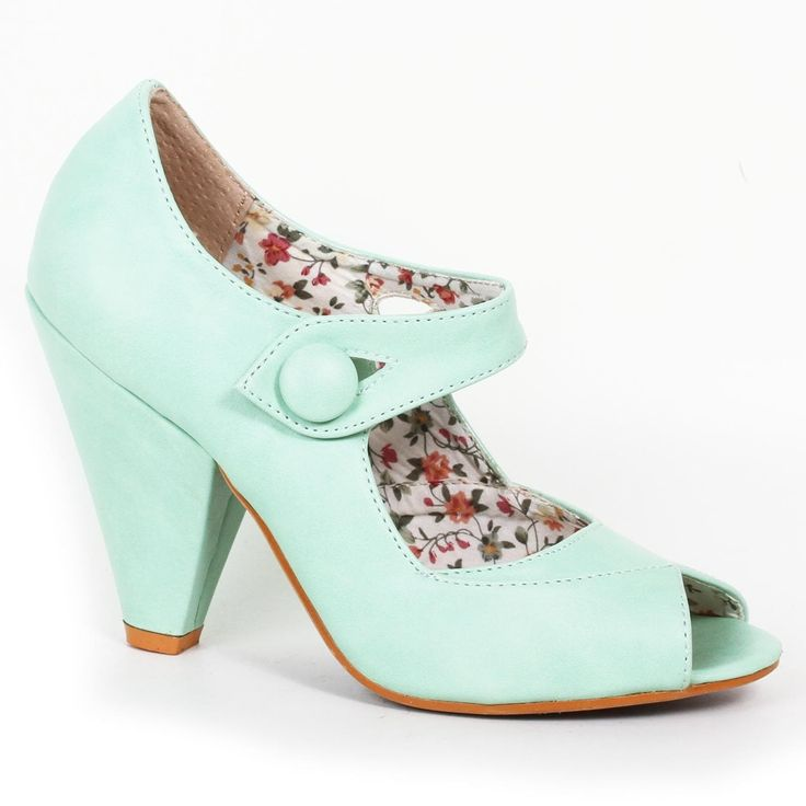 Bettie Page Shelley Shoes - Mint | US sizes 6, 7, 8, 9, 10, 11