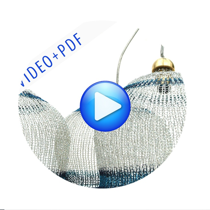 Wire Lampshade Pattern Crocheted Light Pendant DIY Home by Yoola, $23.00