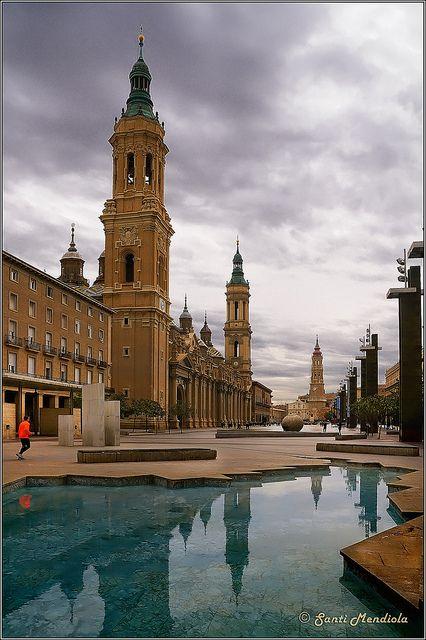 Plaza   del Pilar  Zaragoza  Spain