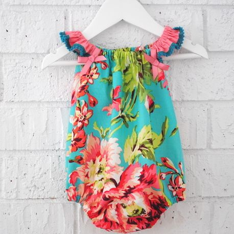 Handmade Summer Baby Girl Playsuit Romper - via DTLL.
