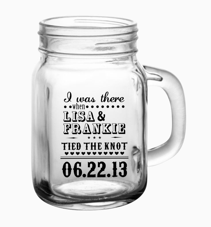 48- 12oz Custom Mason Jar Wedding Glasses. $169.00 ~ Raise your glasses in rustic style with these Old South Style Mason Jar Drinking Mugs. Your guests will love these mugs for years to come.