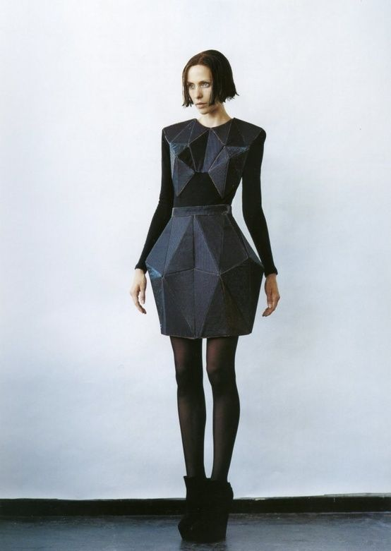 , Futuristic Fashion, Geometric, Crystallographica, Irina Shaposhnikova, futuristic clothing, futuristic look,