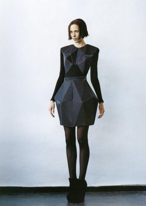 , Futuristic Fashion, Geometric, Crystallographica, Irina Shaposhnikova, futuristic clothing, futuristic look,