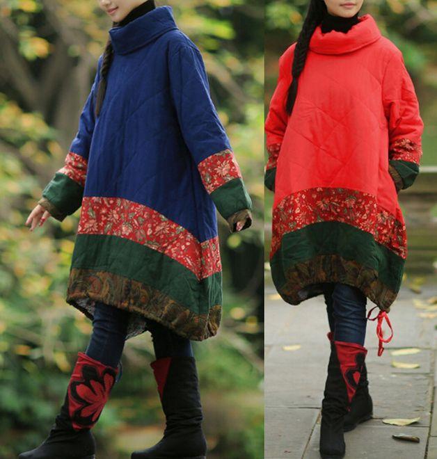 Giacche invernali - Due donne di colori addensare cappotto incappuccia - un prodotto unico di minyaZhou su DaWanda