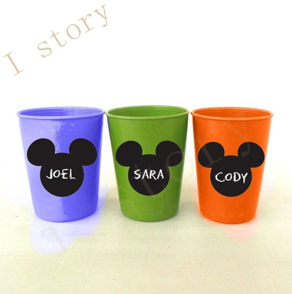 """free shipping 2.1"""" x 2.3"""" Mickey Mouse Chalkboard Vinyl Labels Kids Birthday Party, Playroom, kids party Glass Sticker-in Wall Stickers from Home & Garden on Aliexpress.com   Alibaba Group"""