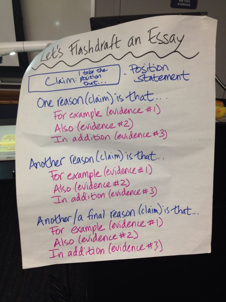flash draft for argument writing