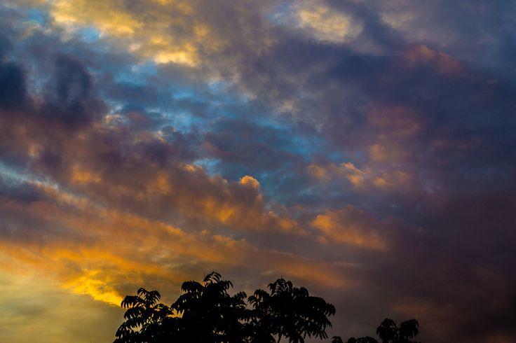 Tablou cu Oradea - 07,10,2015 - cer, nori soare și culori
