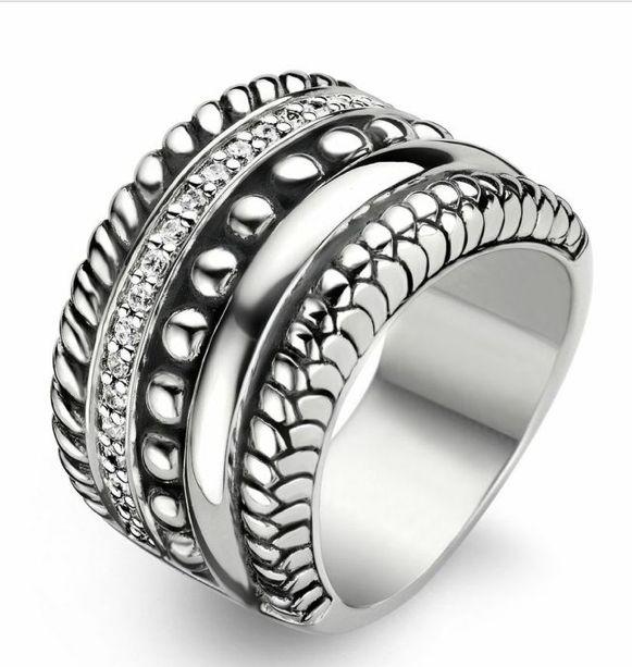 Ti Sento Sterling Silver Ring 1835ZI