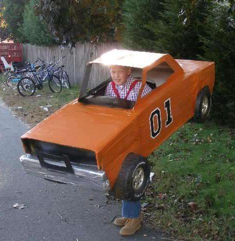 Cardboard Box Costumes Photo Gallery: General Lee Charger Costume