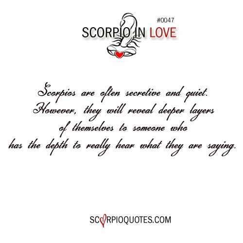 how to tell if a scorpio woman is in love