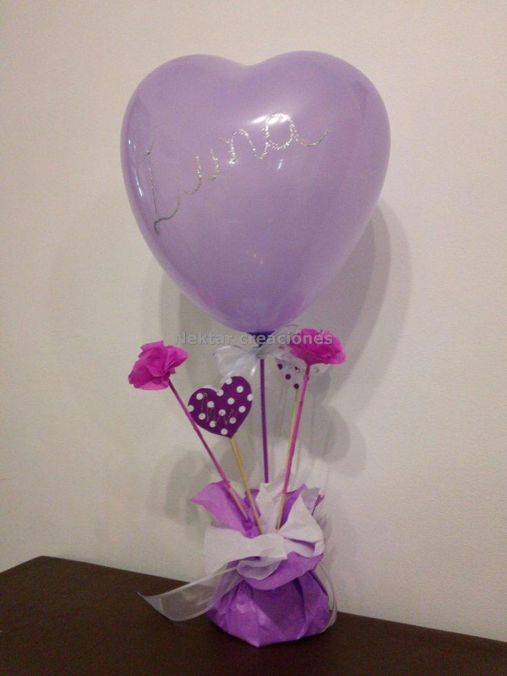 Centro de mesa con globos souvenirs mla f 3115416697 for Mesa centro