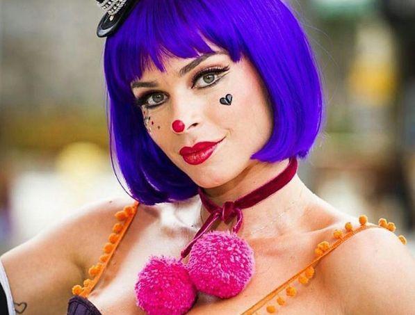 Grazi Massafera faz Arlequina fofa para o seu carnaval
